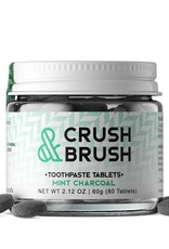 Nelson Naturals Nelson Naturals - Crush & Brush Toothpaste Tablets, Charcoal (60g)