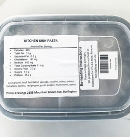 Primal Cravings Primal Cravings - Kitchen Sink Pasta