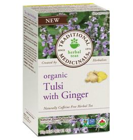 Traditional Medicinals Traditional Medicinals - Fair Trade Herbal Tea, Organic Tulsi with Ginger