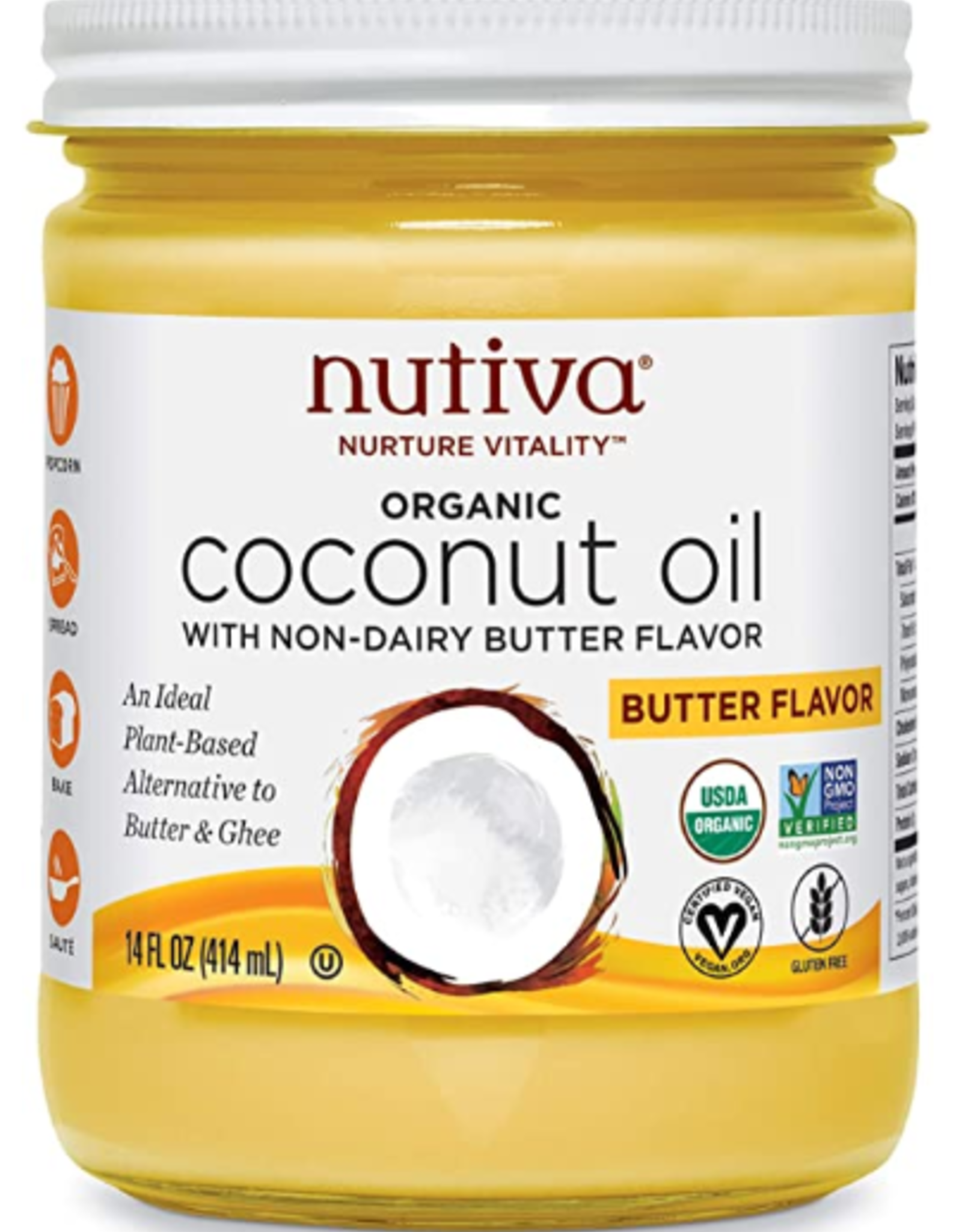Nutiva Nutiva - Coconut Oil, Buttery Refined (414ml)
