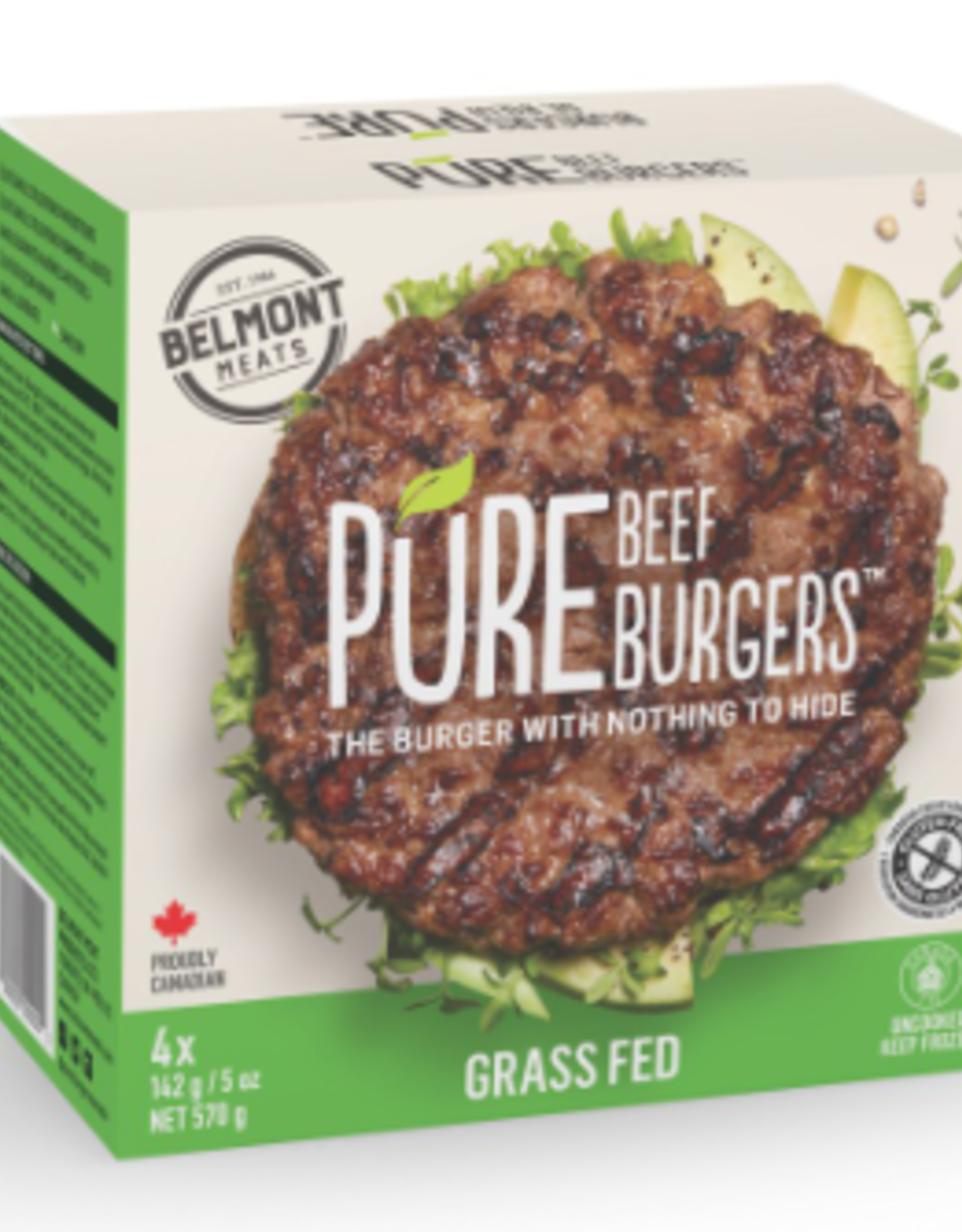 Belmont Belmont - Pure Grass Fed Beef Burgers (570g)