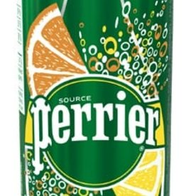Perrier Perrier - Natural Sparkling Water, Slim Tin Lemon Orange (250ml)