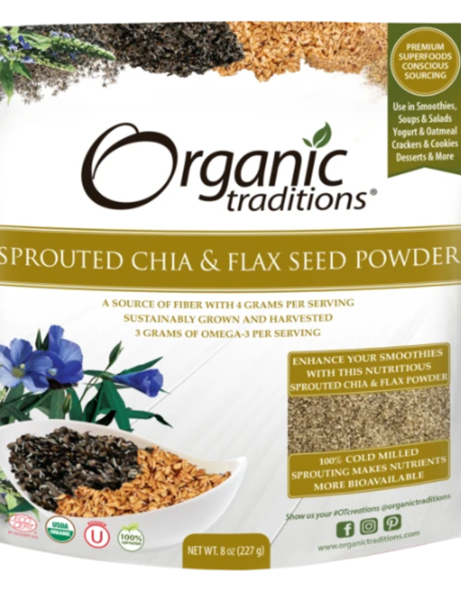 Organic Traditions Organic Traditions - Sprouted Chia Flax  (227g)
