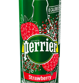 Perrier Perrier - Natural Sparkling Water, Slim Tin Strawberry (250ml)