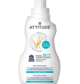 Attitude - Laundry Detergent, Fragrance Free (1.05L bottle)