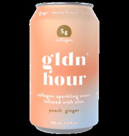 Golden Hour - Collagen Sparkling Water, Peach Ginger (355ml)