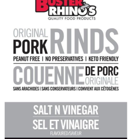 Buster Rhinos Buster Rhinos - Pork Rinds, Salt N Vinegar  (40g)