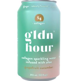Golden Hour - Collagen Sparkling Water, Grapefruit Cucumber (355ml)