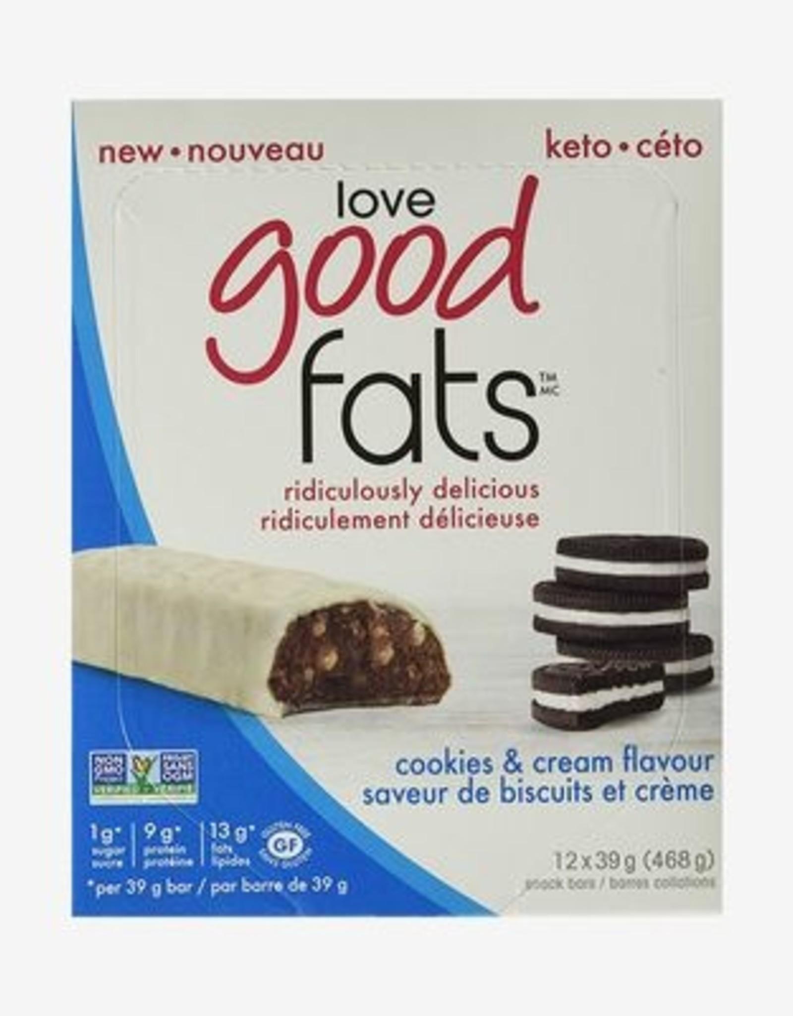 Love Good Fats Love Good Fats - Cookies & Cream - CASE