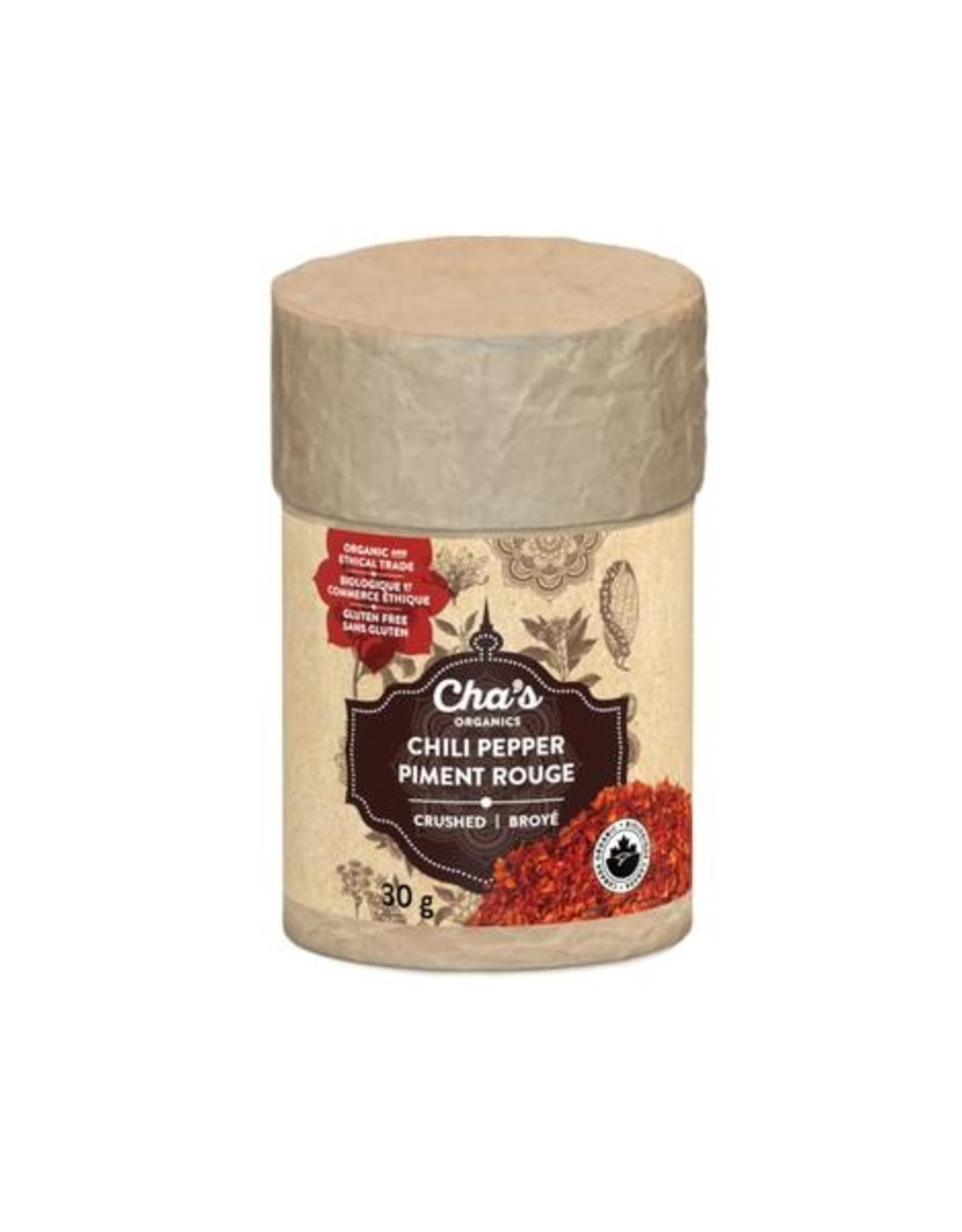 Cha's Organics Chas Organics - Chili Pepper Crushed  (30g)