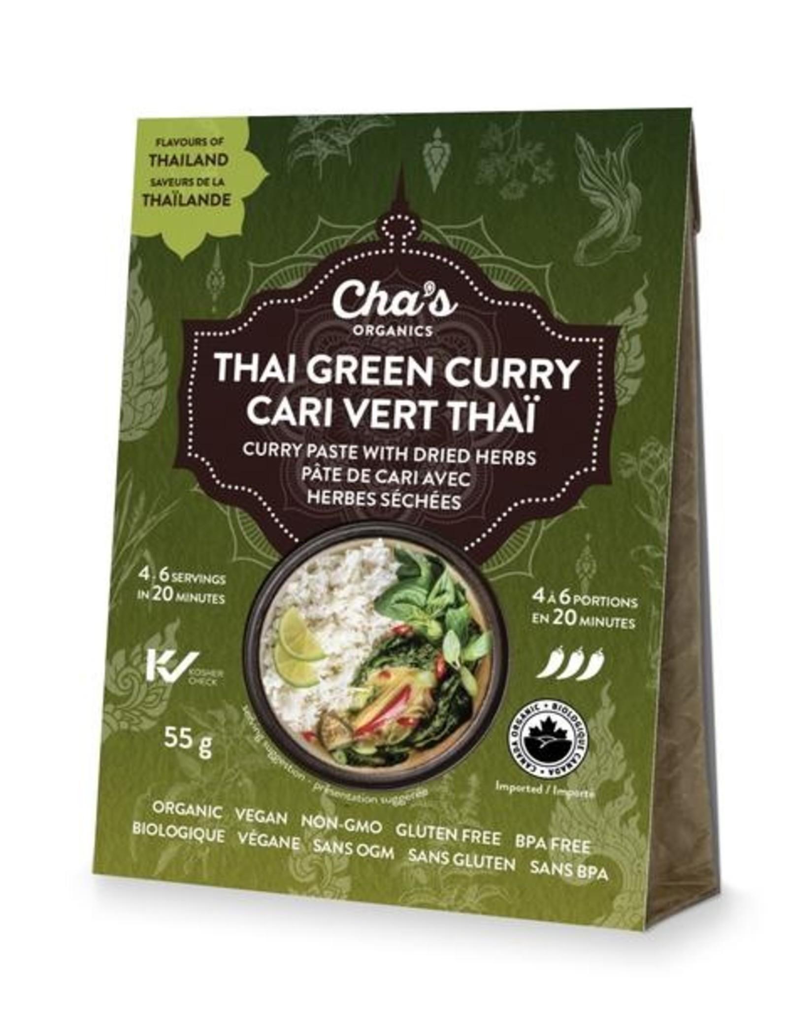 Cha's Organics Chas Organics - Green Thai Curry Paste  (55gm)