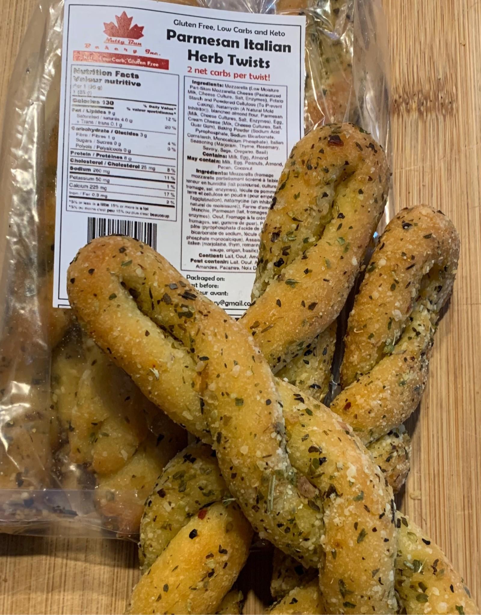Nutty Bun - Parmesan Italian Herb Twists