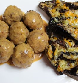 Craving Some Keto - Swedish Meatballs with Scalloped Mushrooms