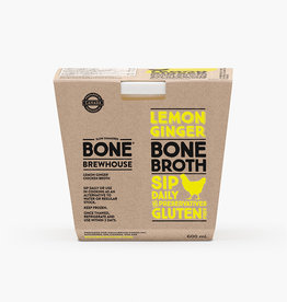 Borderland Bone Brewhouse - Bone Broth, Chicken Lemon Ginger (600ml)