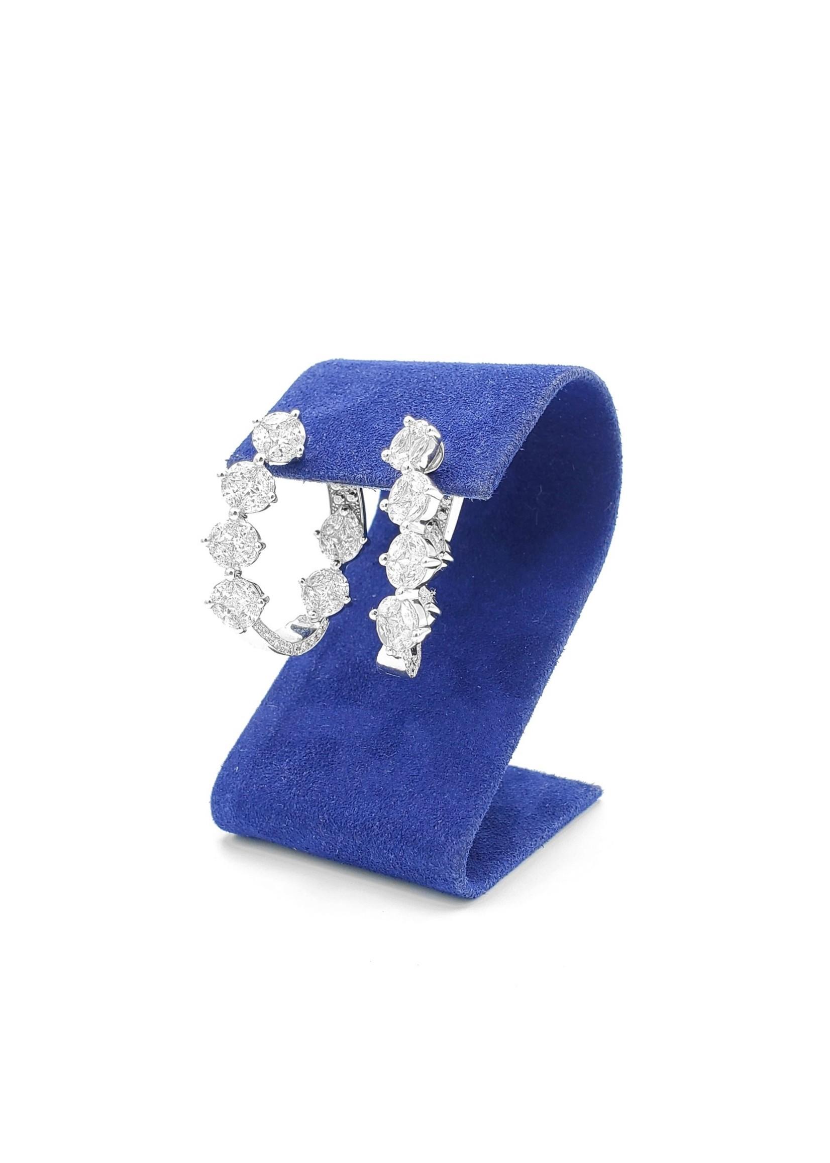 Diamond cluster hoop