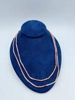 Spectrum Gem Inc Pink Opal Beaded Necklace 14k Yellow Gold