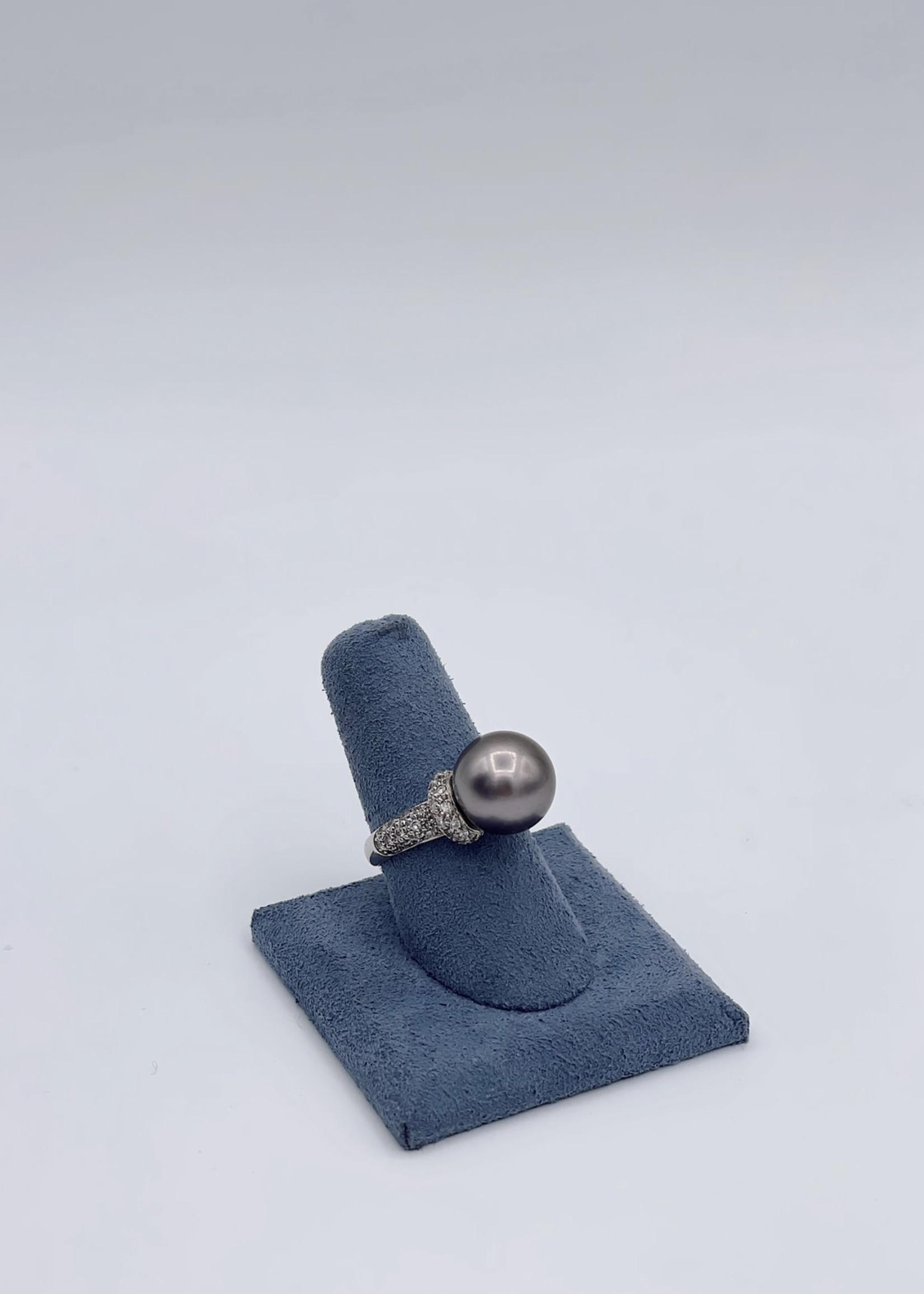 Imperial-Deltah Diamond Pearl 14k WG Ring
