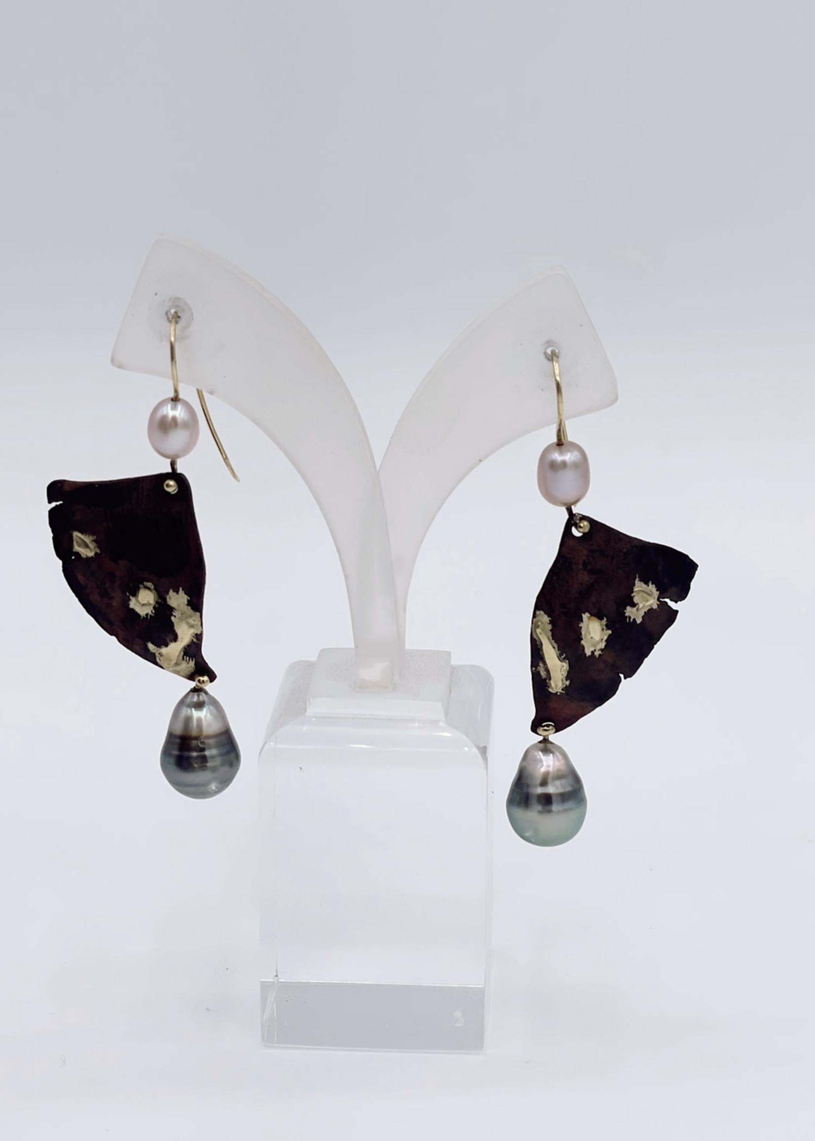 CJ Designs Freshwater Pearl Earring 14k Yellow