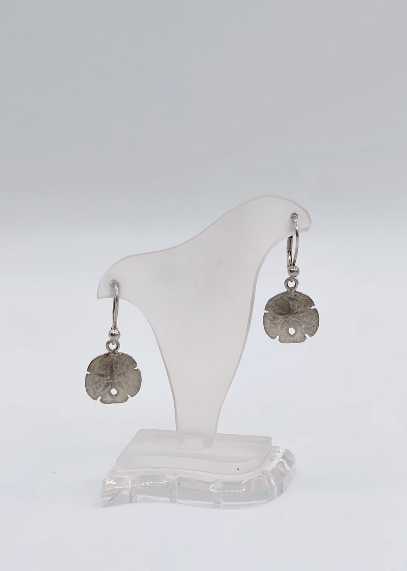 CJ Designs Sand Dollar Drop Earrings