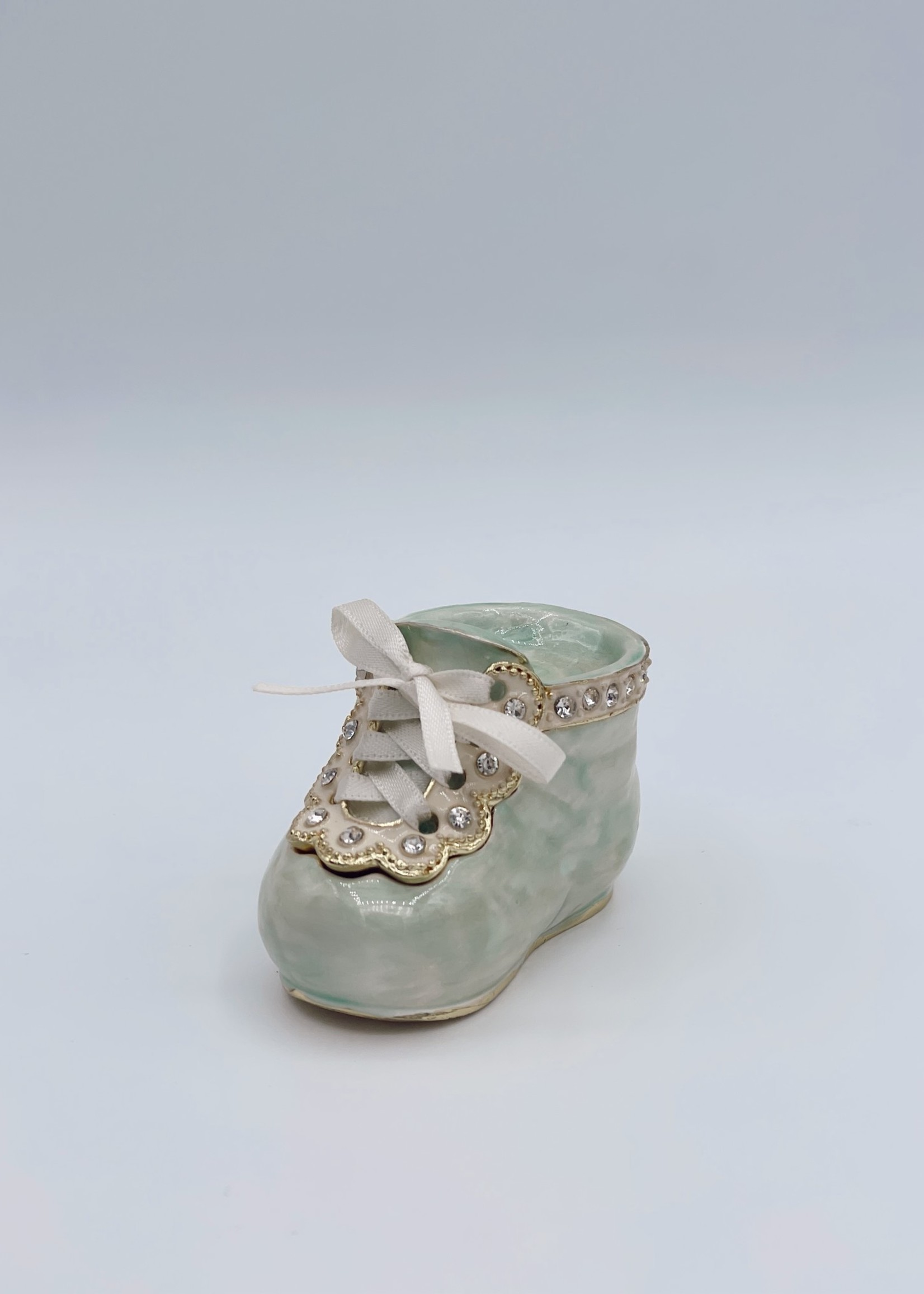 Quality Gold Baby Green Bootie Giftware