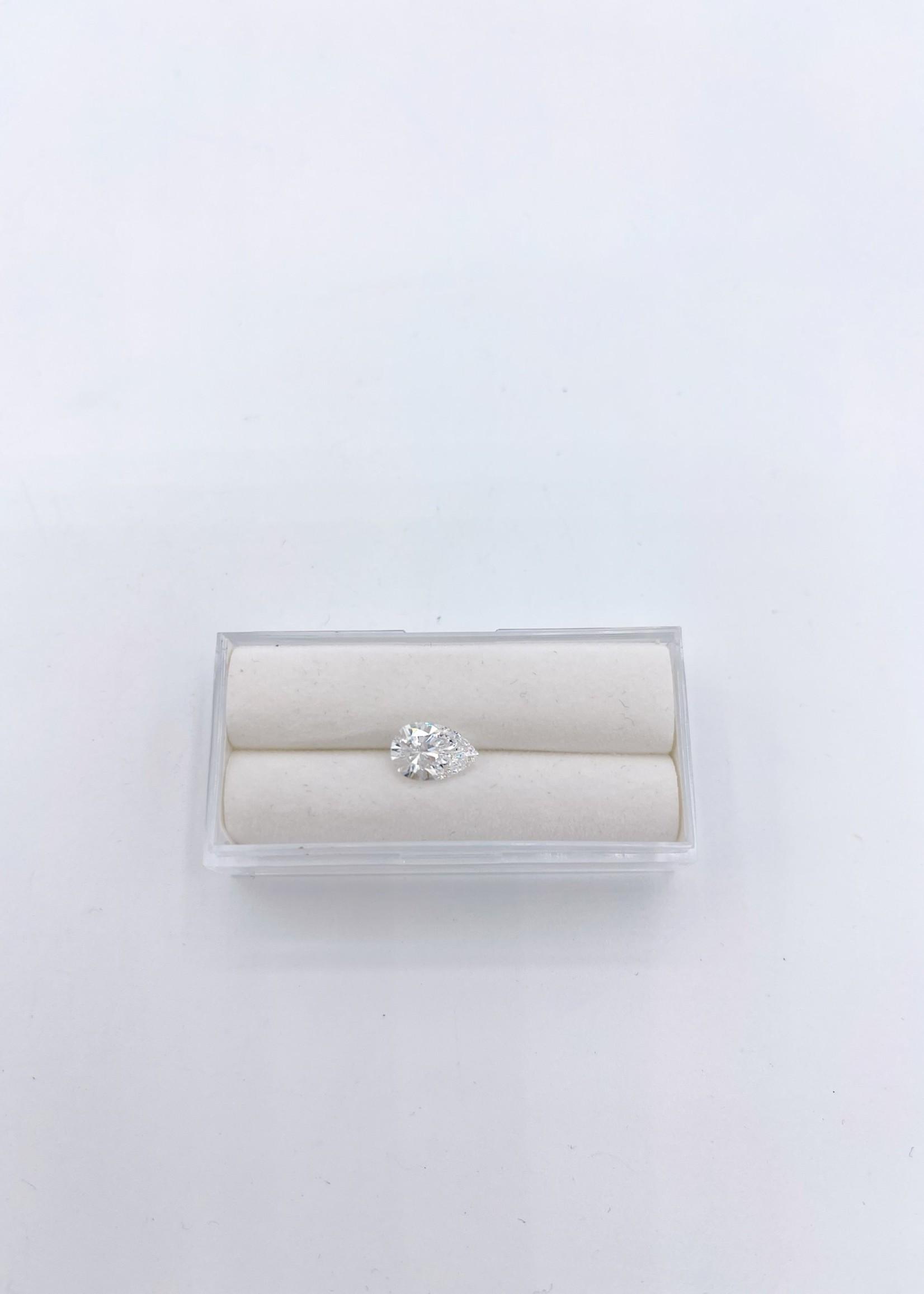 Lannyte Lannyte Pear Cut 2.07ct 9x6mm White