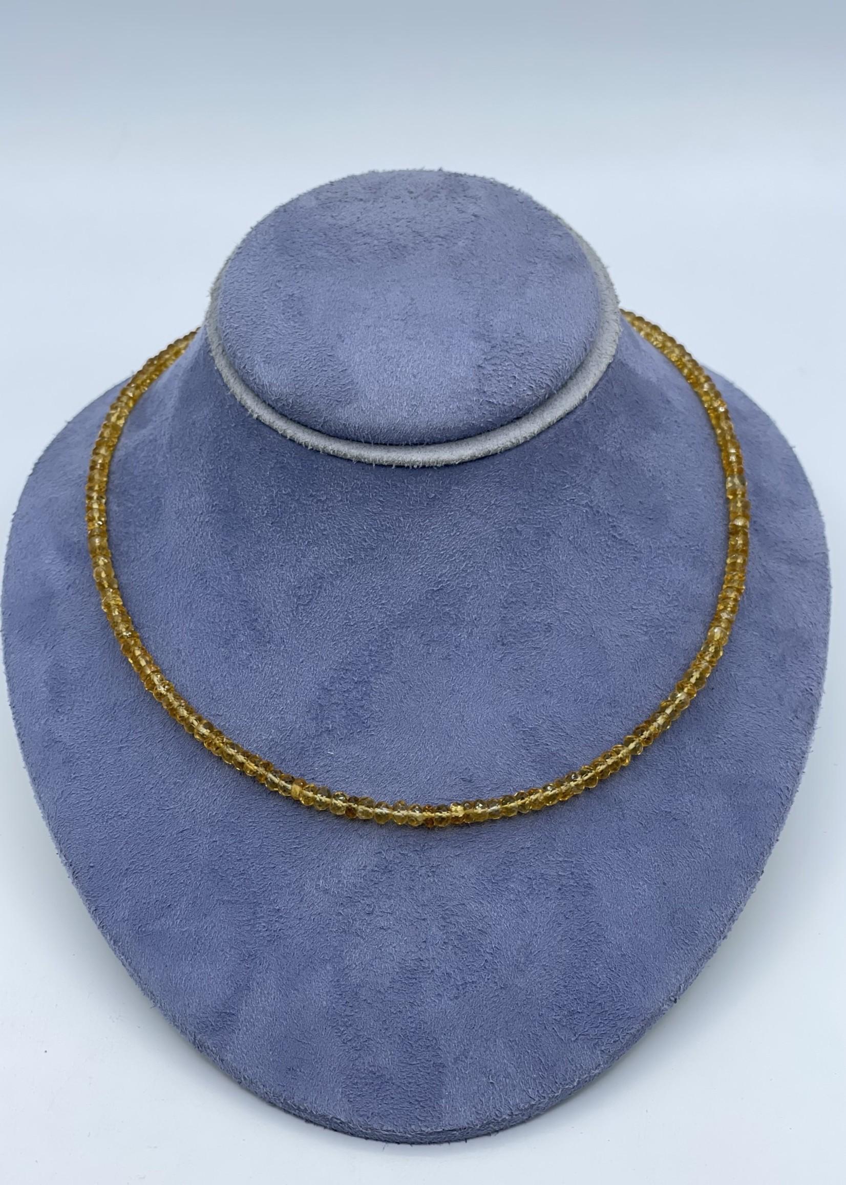 Raymond Mazza Inc 14kY 17'' Citrine Bead Necklace
