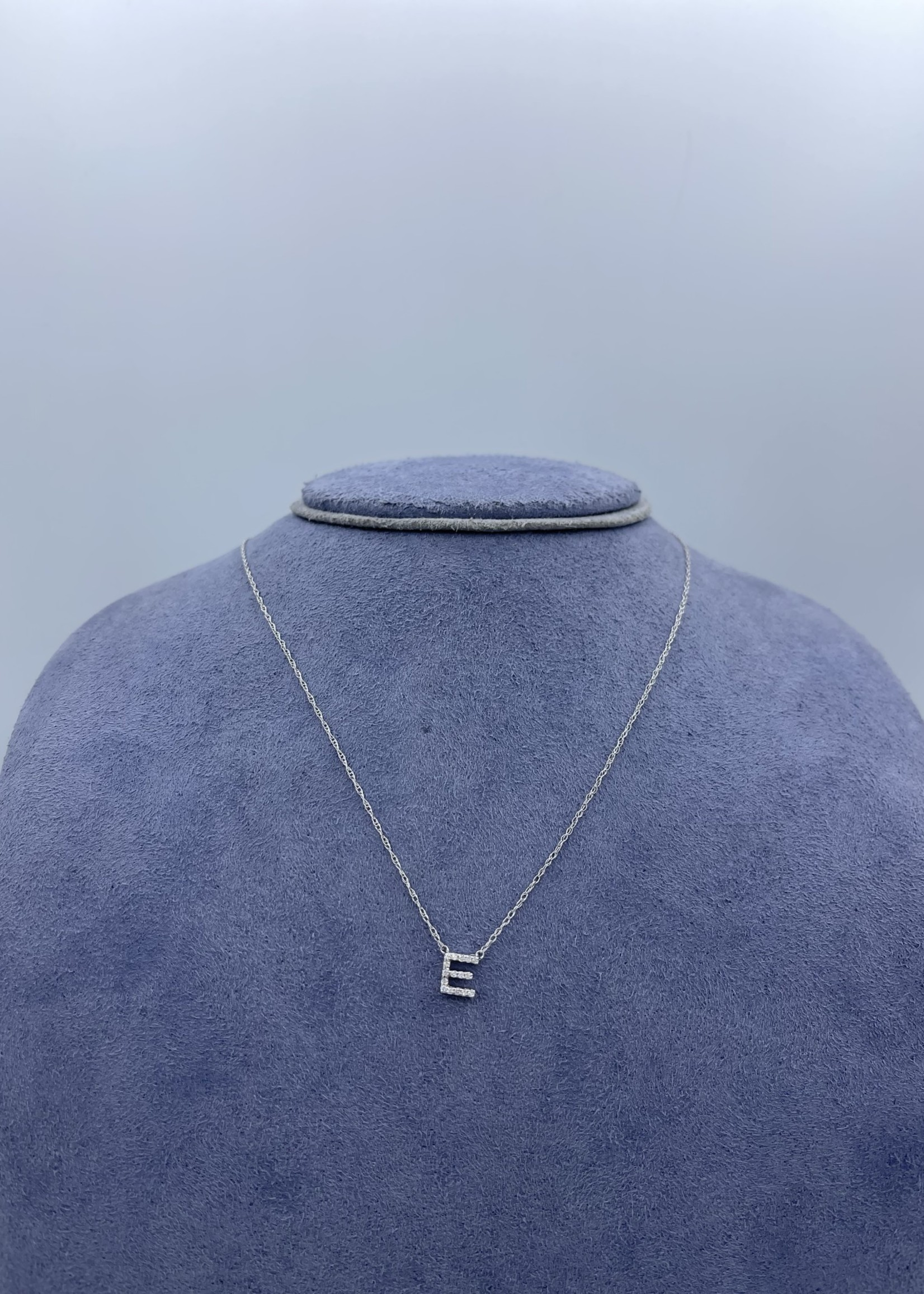 Overnight Diamond Initial Necklace 18' 14k White