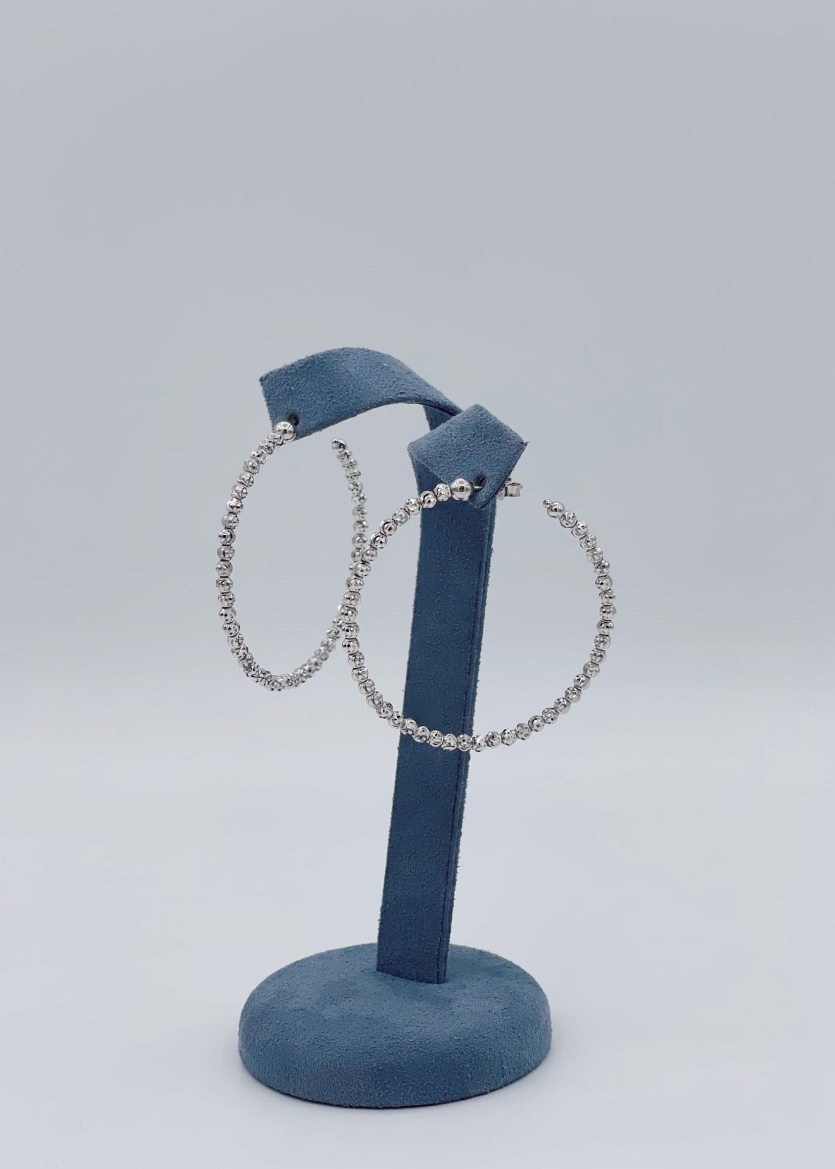 Officina Bernardi Sterling Silver Large Hoops