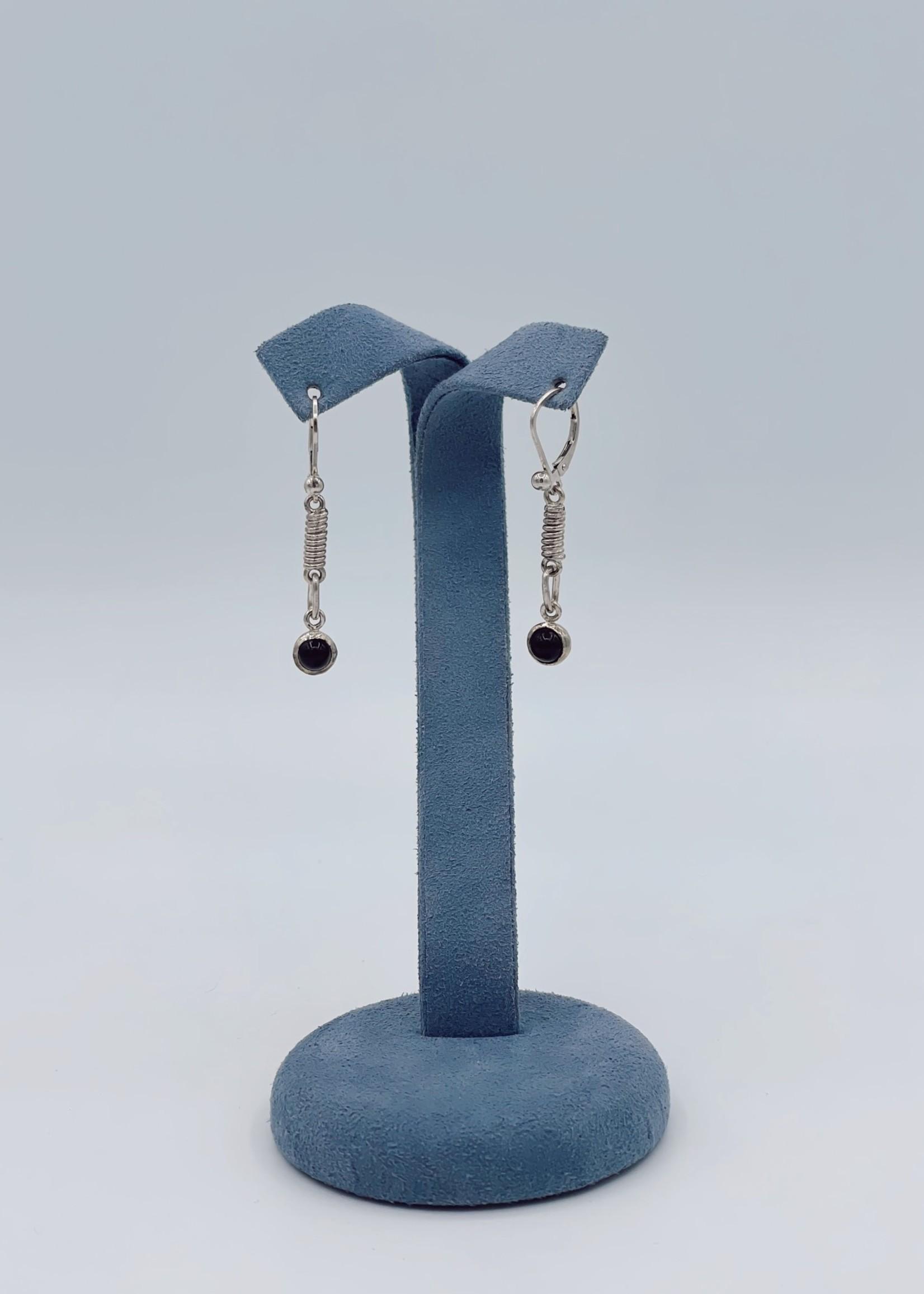 CJ Designs Black Onyx Earrings