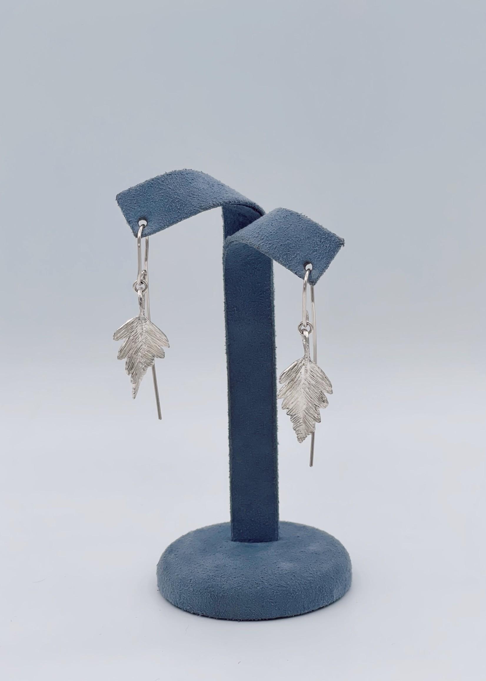 CJ Designs Leaf Drop Earrings