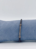 Nanis Leather Bracelet With SS clasp