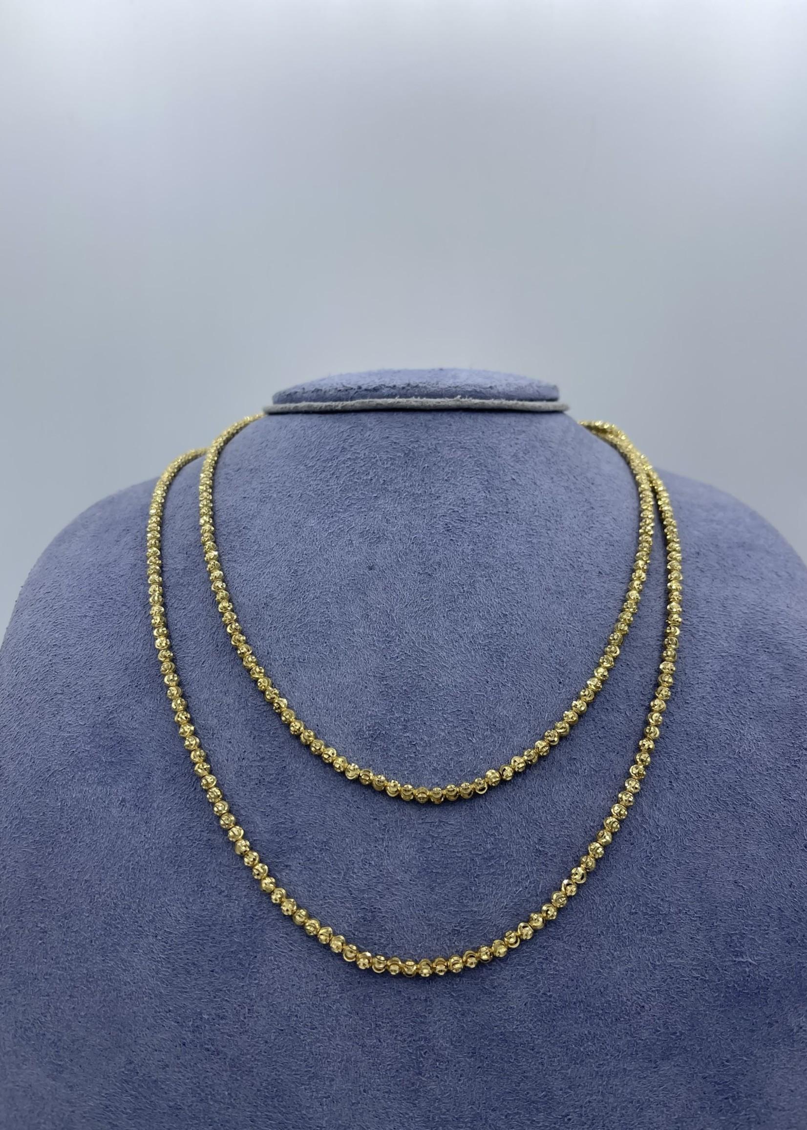 "Officina Bernardi Yellow Sterling Silver 36""  Necklace"