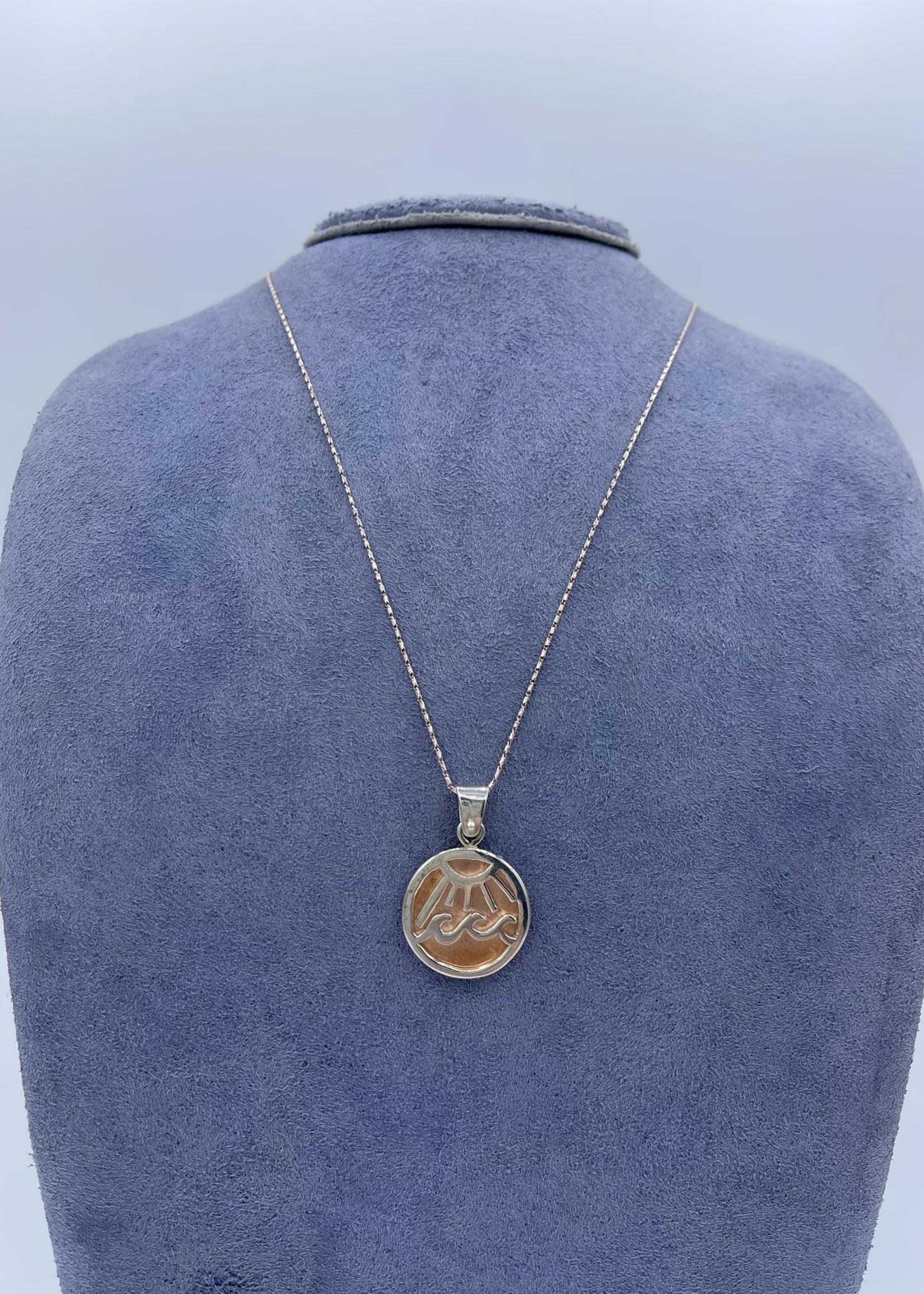 CJ Designs Silver and Copper Wave Pendant