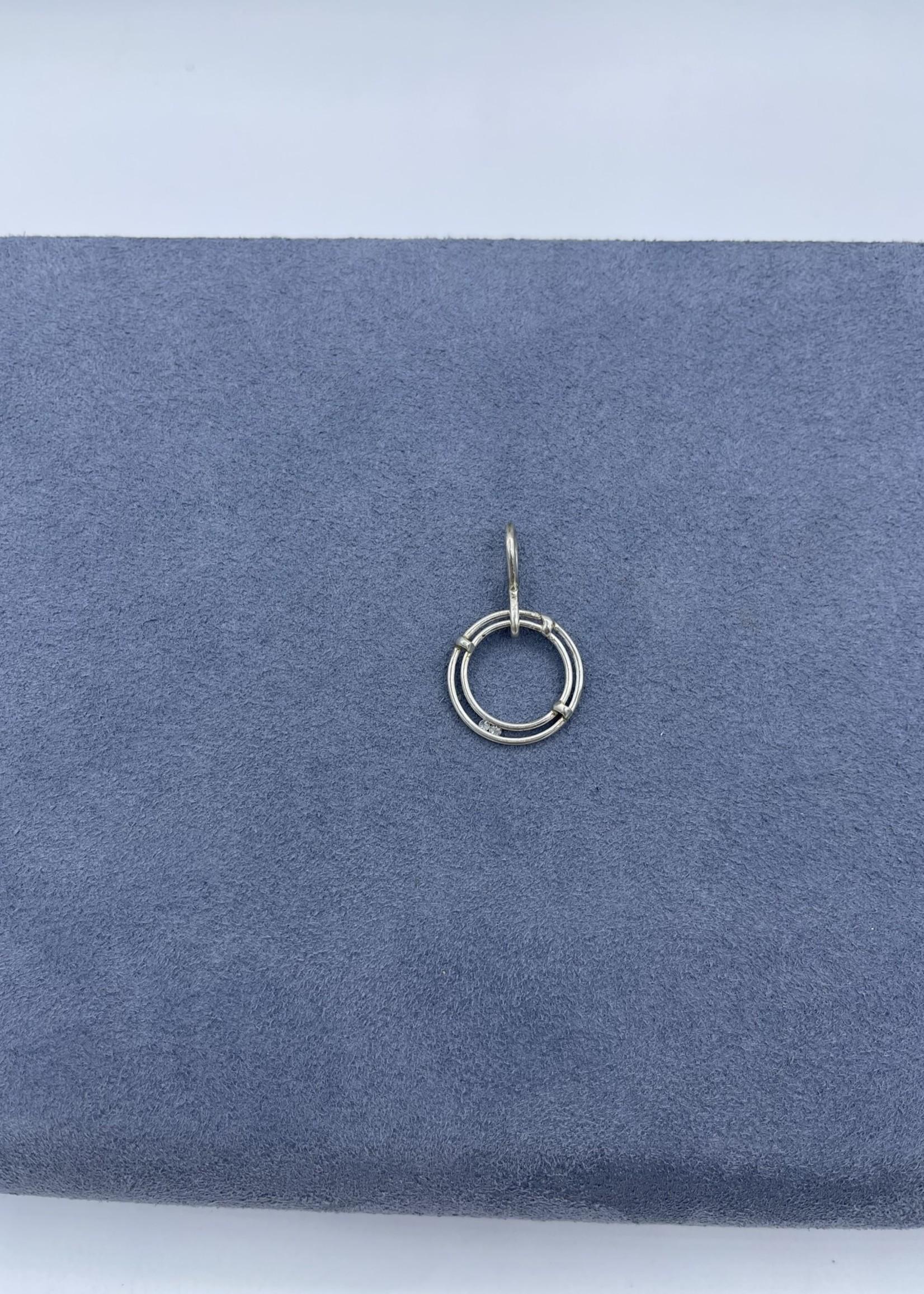 CJ Designs Silver Diamond Pendant