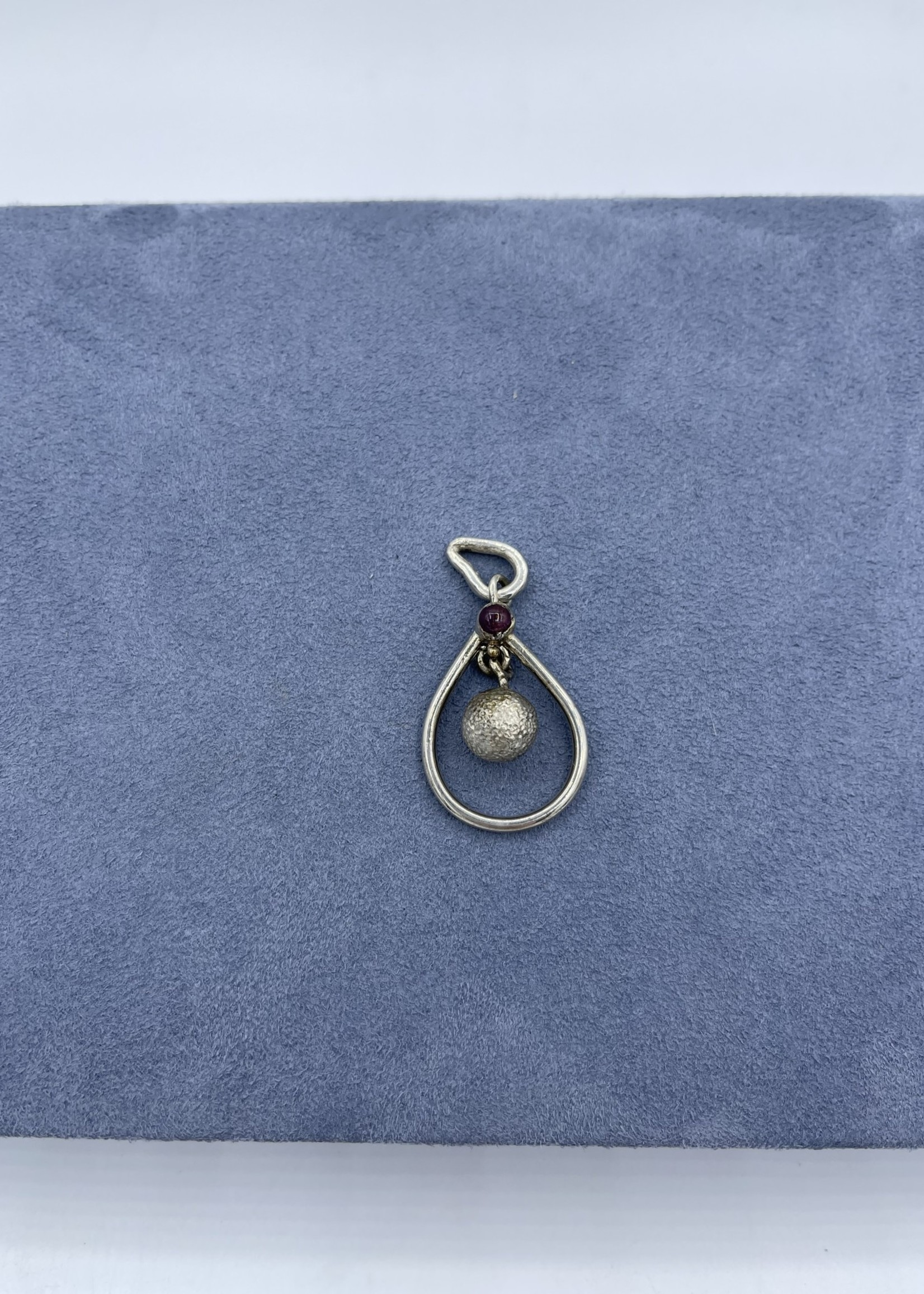 CJ Designs Sterling Silver Ruby Pendant