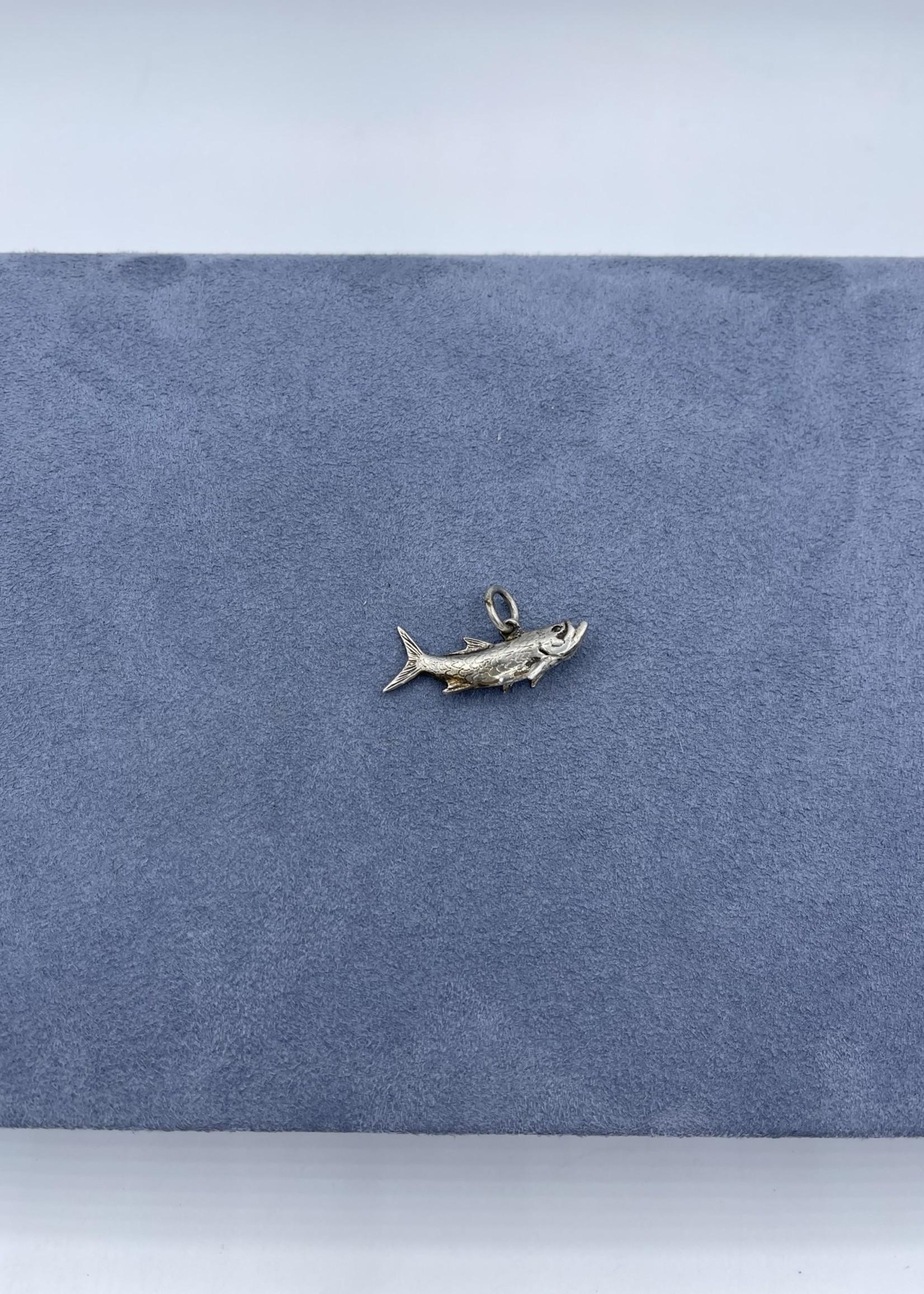 CJ Designs Sterling Silver Trout Pendant