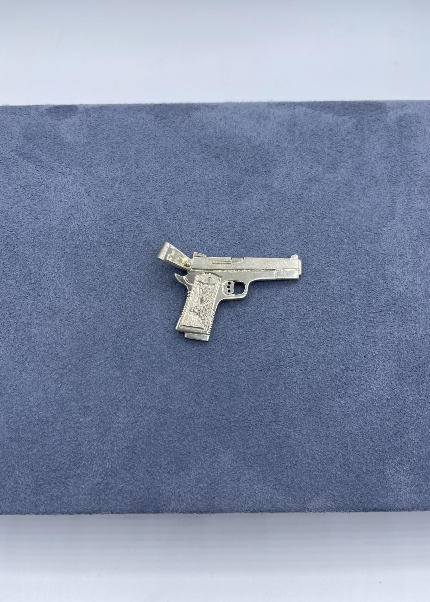CJ Designs Gun Pendant Sterling Silver