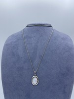 Marathon Company Mother of Pearl Locket Sterling Silver