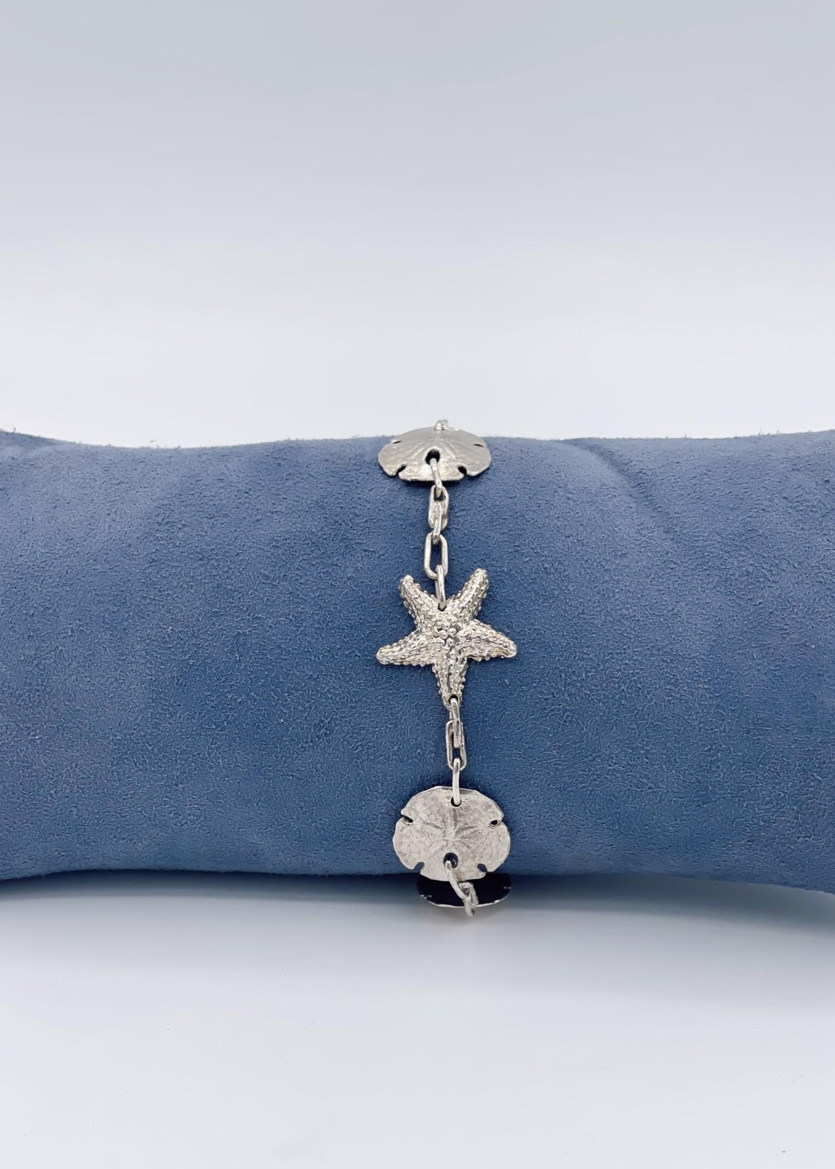 CJ Designs Sea Life Charm Bracelet Sterling Silver