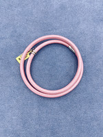 Stardom Pink Leather Charm Bracelet