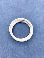 Stardom Beige Small Leather Charm Bracelet