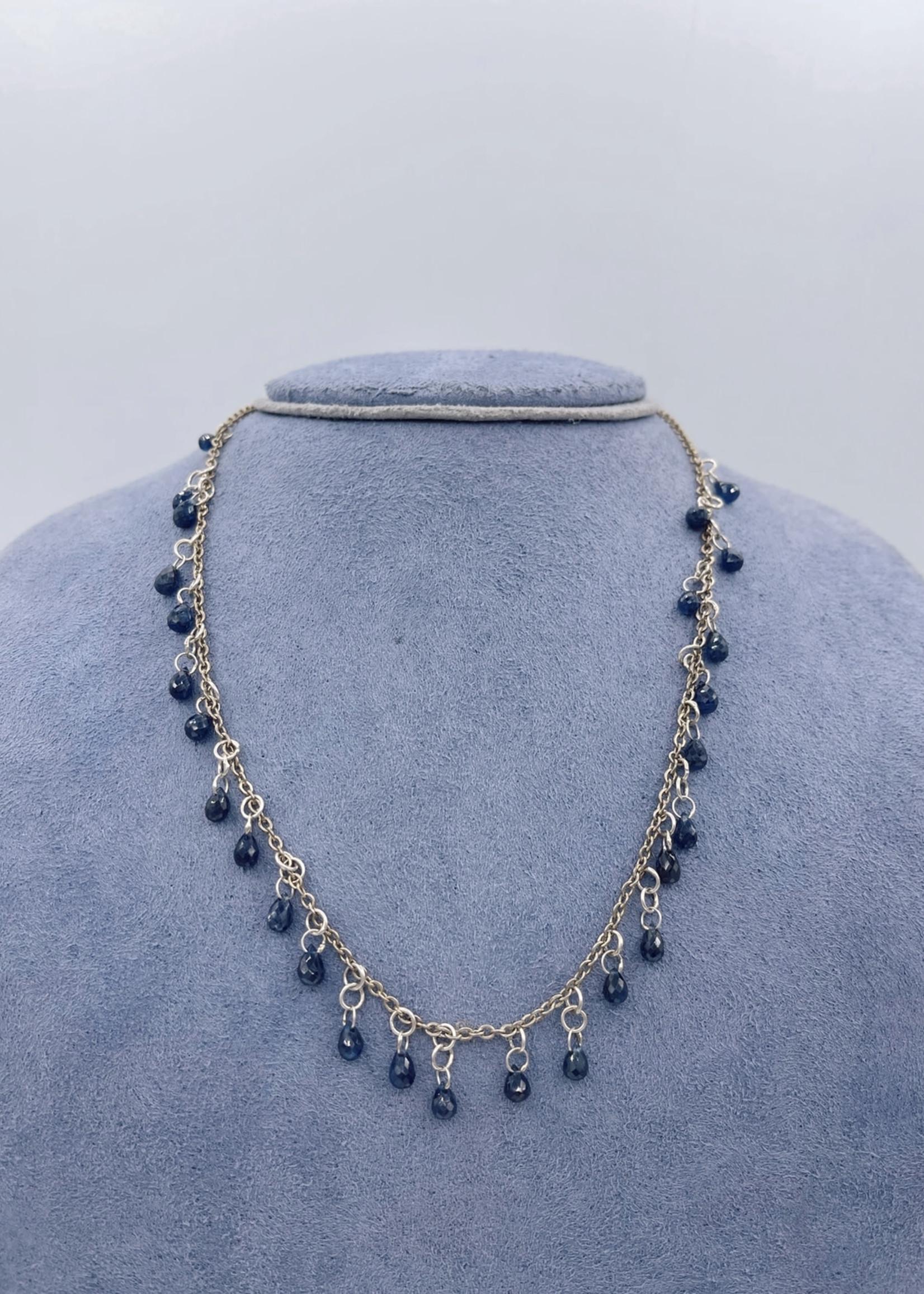 CJ Designs Blue Sapphire Necklace