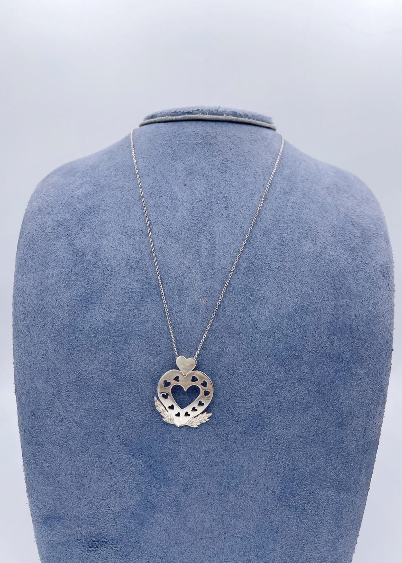 CJ Designs Heart Pendant Sterling Silver