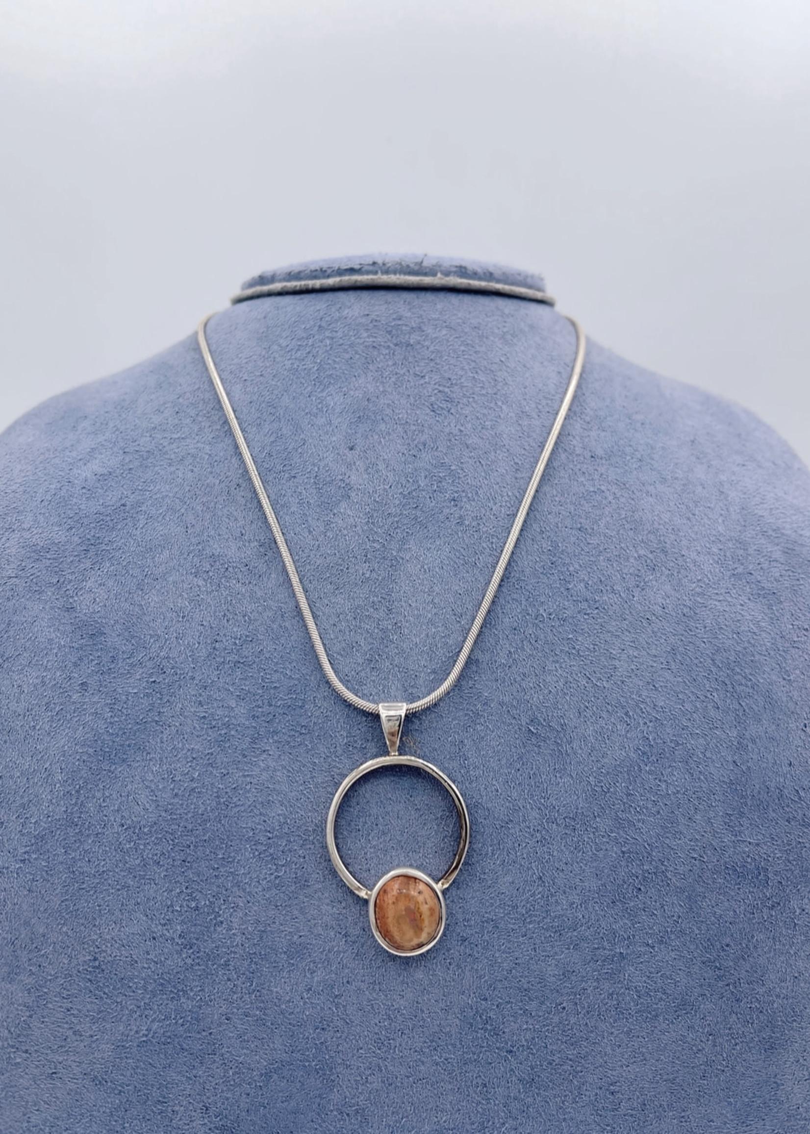CJ Designs Mexican Opal Necklace