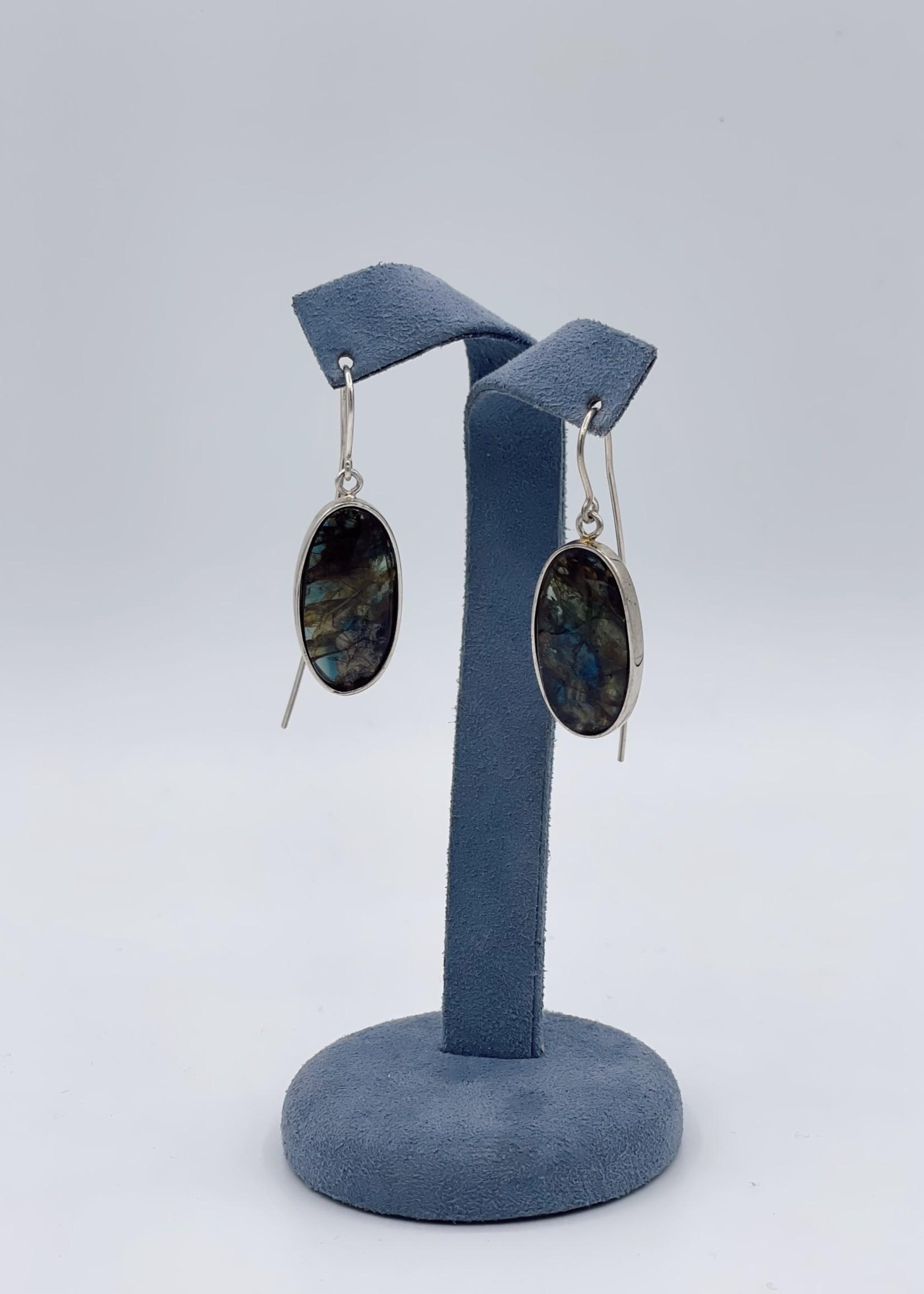 CJ Designs Labradorite Sterling Silver Earrings