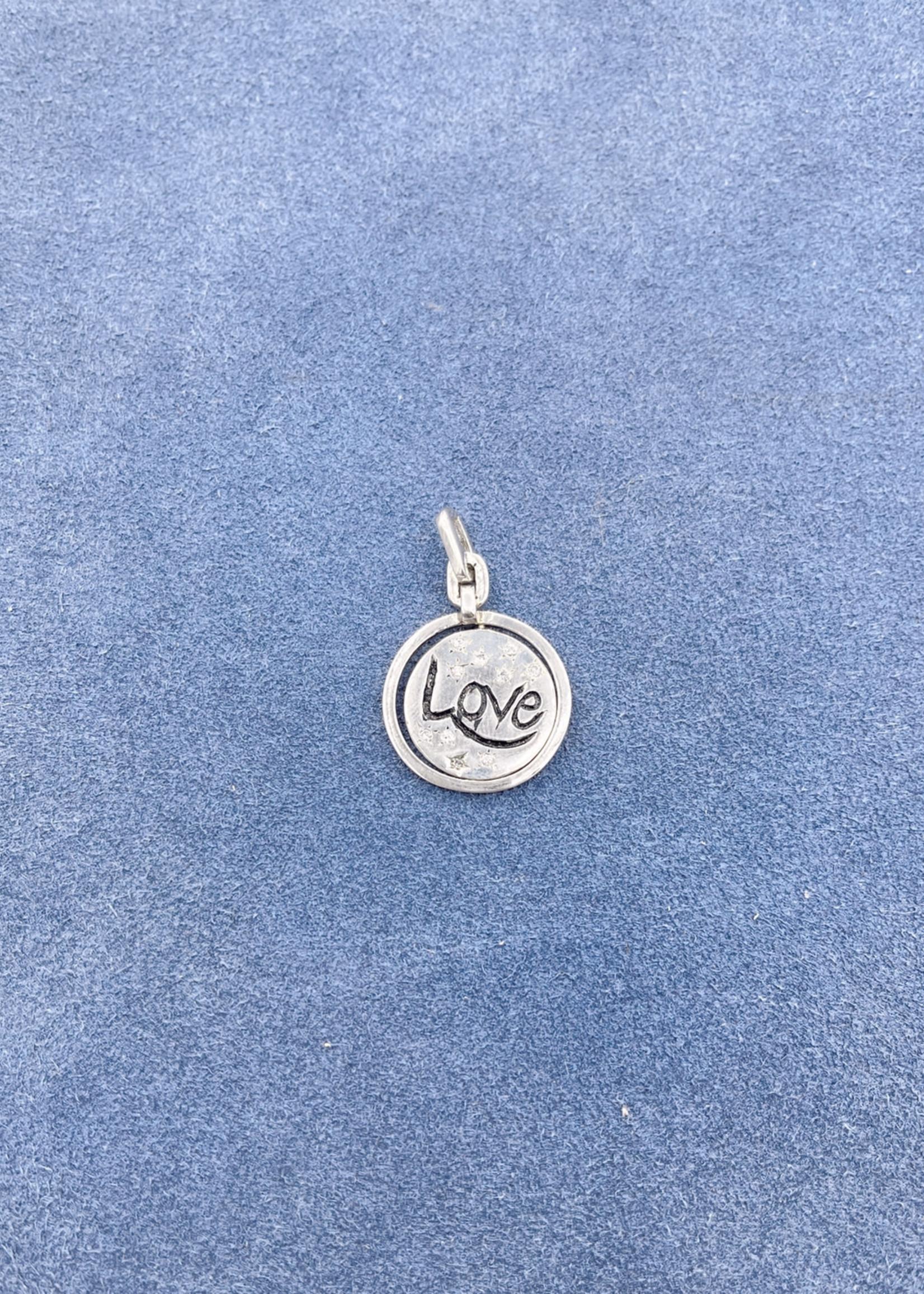 CJ Designs Love Pendant with Diamond