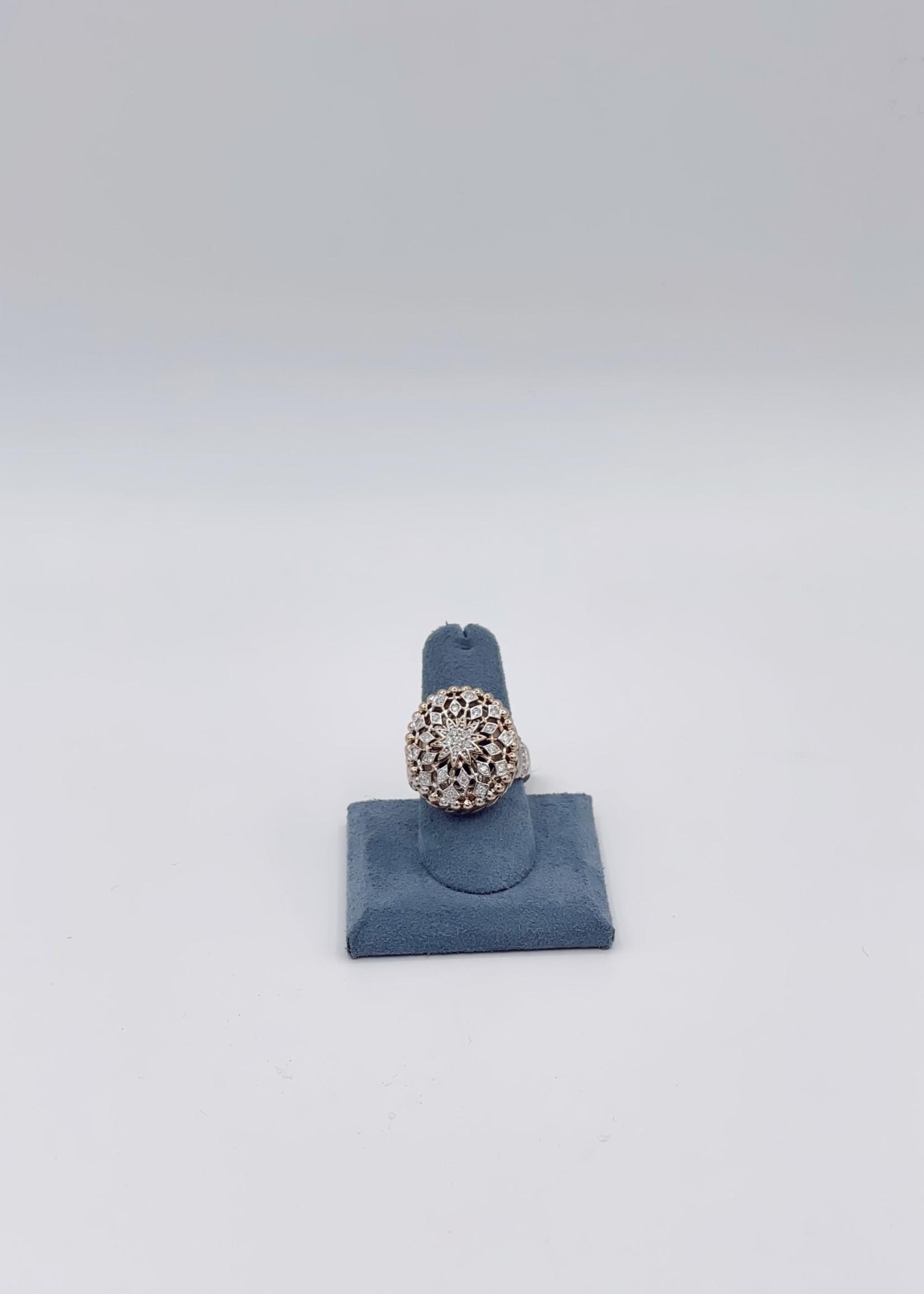Vahan Jewelry 14kY/SS w/ .26ctw Dia size 6
