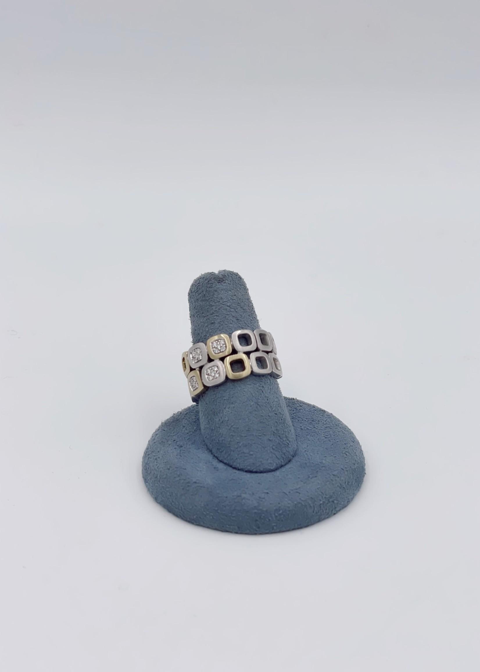 Breuning Inc Diamond Ring 14k White, Yellow