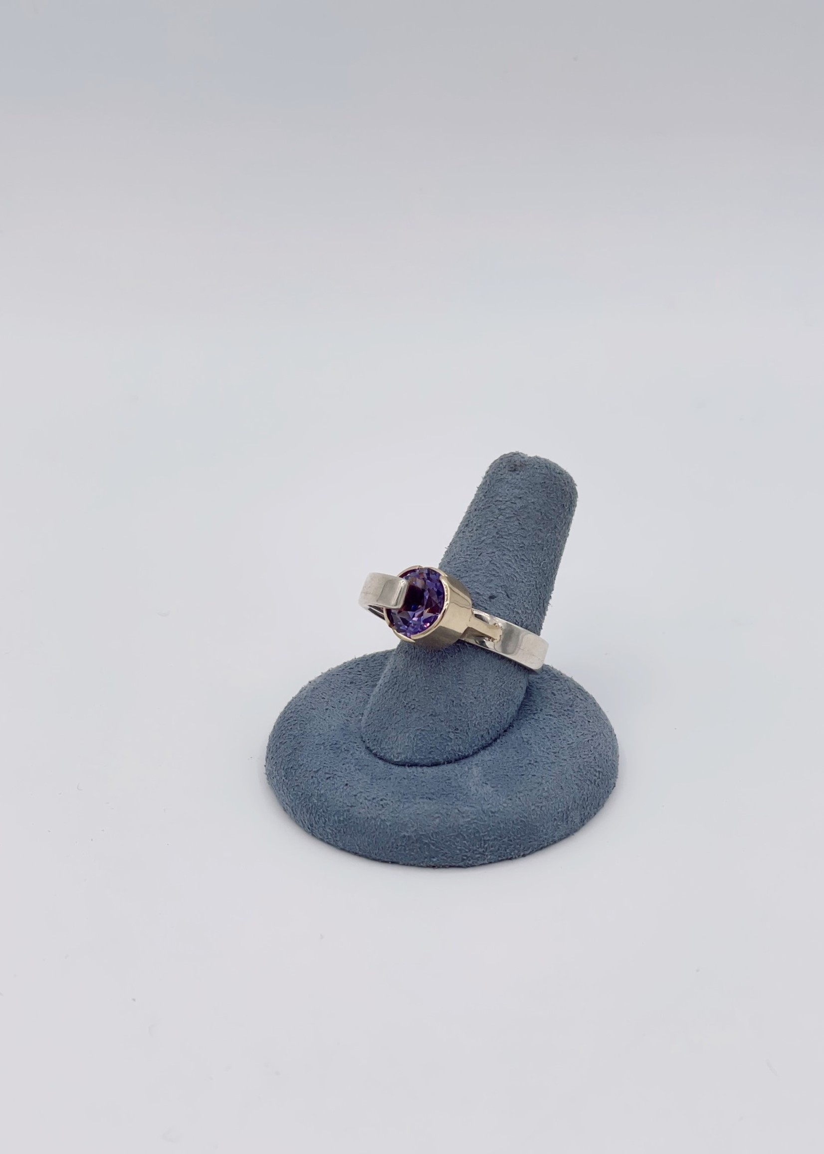 CJ Designs Amethyst  Two-Tone Ring