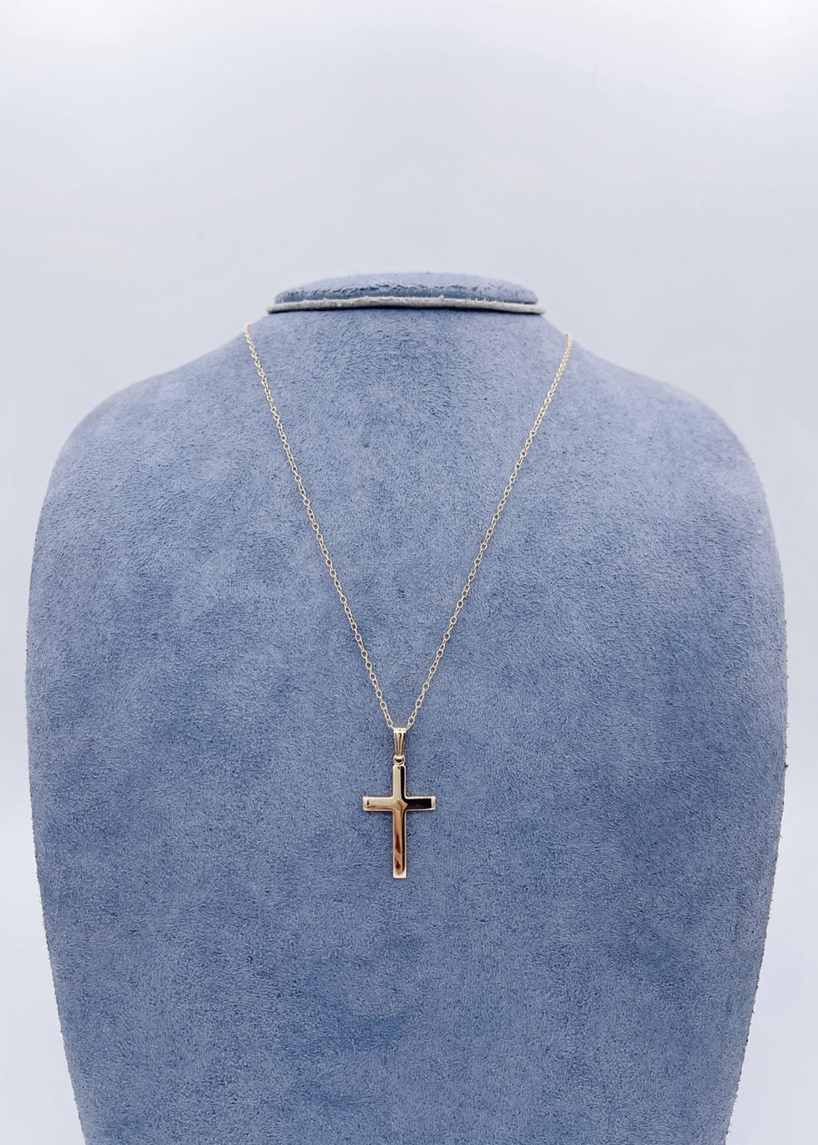 CJ Designs 10kY Gold Cross Necklace
